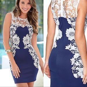 Venus NEW Royal Blue & Lace Body Con Dress